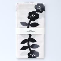 zucu|注染てぬぐい「花飾り/黒」