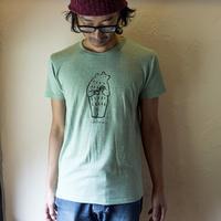 cafeゴリョウ|オリジナルTシャツ【ヘザーグリーン】