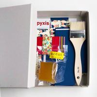BOX&NEEDLE|貼箱制作キット /PYXIS CARD ブルー