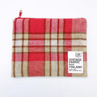 LIFE AND BOOKS|VINTAGE FABRIC POUCH (L)7-4