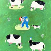 茂苅恵|牛乳原画1