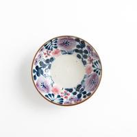 【7月号掲載分】キカキカク|4深小皿 ガーデン柄 ブルー