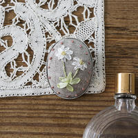 piece|poritorieさんのリボン刺繍 ハナコトバブローチキット Daisy