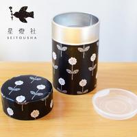 星燈社|紅茶に似合う図案の茶筒『さざめき』