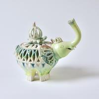 みかガマ|ゾウとカメの仲良し香炉