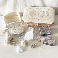 yazawado|海のお裁縫道具 white basket