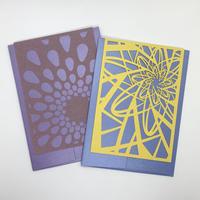西荻ペーパートライ The Snowback Press   CutItOut!Cards グリーティングカードセットC(2組セット)