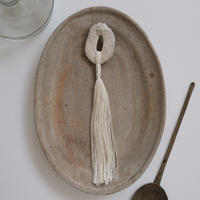 harishigoto|白い種/芒種・ブローチD