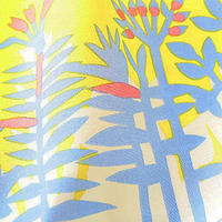 華市松 手拭い「H1055:花花(ブルー)」