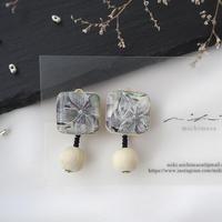 mikimichimasa|【 月刊手紙舎 限定作品】- 紫陽花 - earring EB-3