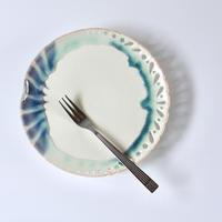 みかガマ|09 紫シマ透かし5寸ヒラ皿