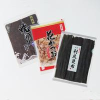 cobato|クリアファイル「乾物系(焼きのり・花かつお・昆布)」 3種セット