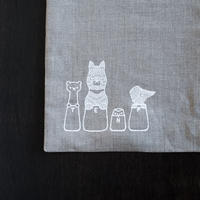 十布|リネン つつむ袋 小 袋跳び競争