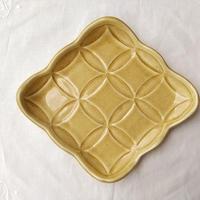 kinoki pottery|綾果皿(caramel)