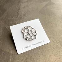 HANDWORK STILLA|蓮の実大ピンブローチ SILVER925