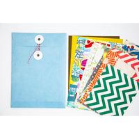 BOX&NEEDLE|ハガミ封筒 set[Blue]