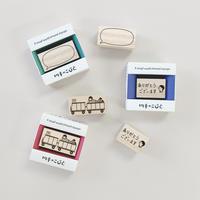 切手のこびと|便利なスタンプ3個セット-standard- [限定]