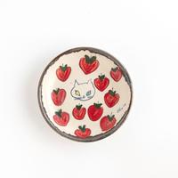 chato|4豆皿 ネコとイチゴ
