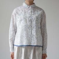 Canako Inoue  garden / ループシャツ white-blue
