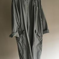yatra|ユニセックスロングコート cotton 40's blue gray