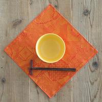 十布|福島の刺子織 ハンカチ レッド
