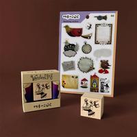 切手のこびと|WonderLand-01 ターニャと星空の鳥 + シール1枚