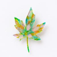 suzukimoeko|leaf brooch 9
