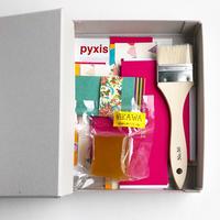 BOX&NEEDLE|貼箱制作キット /PYXIS CARD ピンク