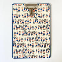 &PAPERS|CLIP BOARD party crowd pink