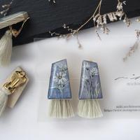 mikimichimasa - 山野草図 - 紫 tassel earring ET-3