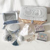yazawado|海のお裁縫道具 bluegray basket