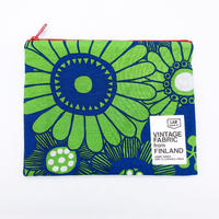 LIFE AND BOOKS VINTAGE FABRIC POUCH (L)7-6
