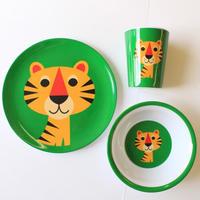 krone|OMM-designメラミン食器3点セット タイガー