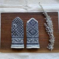 a.mo knit|雪の結晶ミトン【受注商品:2月中発送】