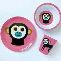 krone|OMM-designメラミン食器3点セット サル