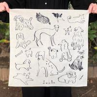 Loule(ロル)|網中いづるハンカチ「犬とドライブ 愛しのカバン」