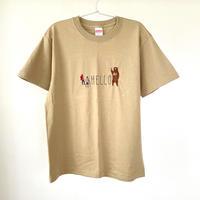 slowth|刺繍Tシャツ【HELLO】