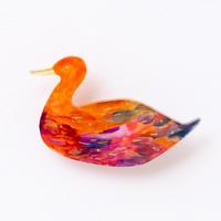 suzukimoeko bird brooch 2