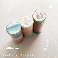 田村美紀|ちぎり絵マステ6色セット ふわり/そら/くらし