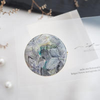 mikimichimasa 【 月刊手紙舎 限定作品】- 紫陽花 - brooch BL-3