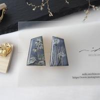mikimichimasa|- 山野草図 - 紫 earring E-3