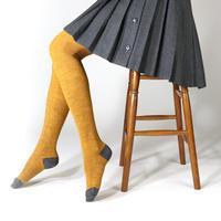 KURI BOTELLA|タイツ Ribbon tights - mustard リボンタイツ マスタード