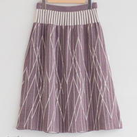 【6月号掲載分】MAITO|草木染め ジャカードロングスカート【線】