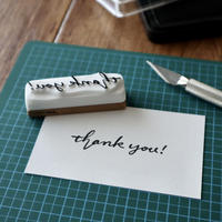 TAM'S WORKS|THANK YOU【B】 手彫りスタンプ