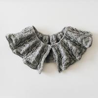 L'Effrontée|透かし模様の付け襟 グレー【受注商品:2月中発送】