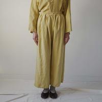 【10月号掲載分】Canako Inoue| Plain Linen / ギャザーパンツ マリーゴールド