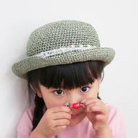 AVRIL|バンブーテープのつばつき帽子 kids パステル