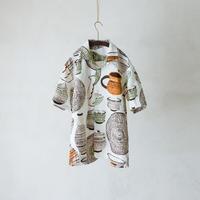 TANSU x gochisou|オープンカラーシャツ/小鹿田焼