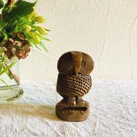 houti|可愛いお顔の木彫りふくろうさん