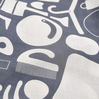 華市松|手拭い「H1016:道具(鉄色)」